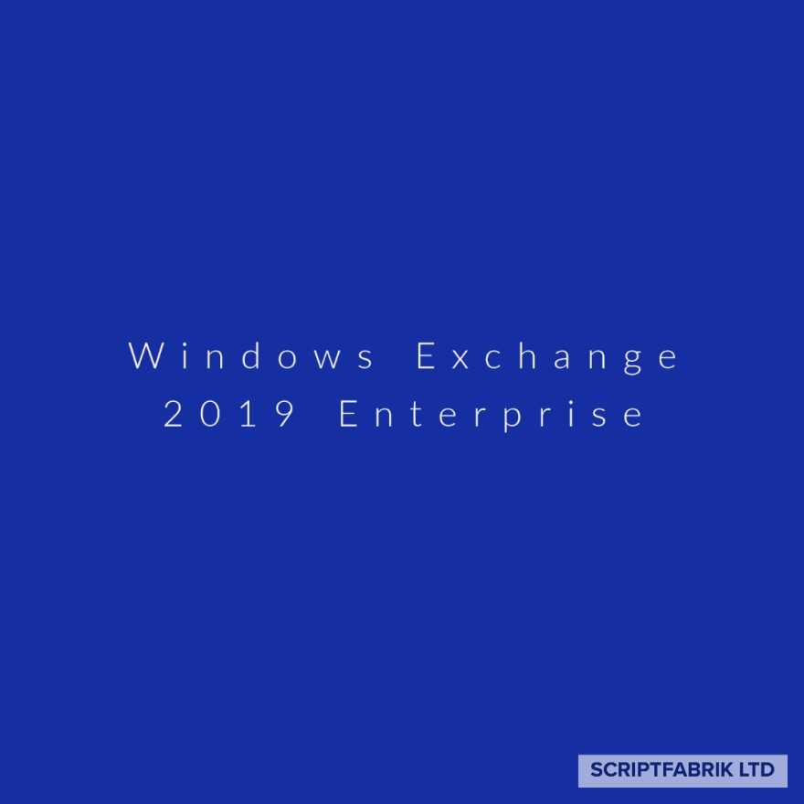 Window Exchange 2019 Enterprise
